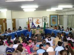 Los escolares del Juan Carlos I conmemoran el día de la Constitución