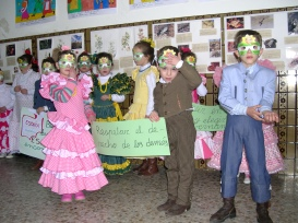Los escolares del Colegio Santa Teresa de Porcuna celebran el Día de Andalucía y el Carnaval