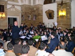 El concierto de pasión se celebra en la sacristía de la parroquia