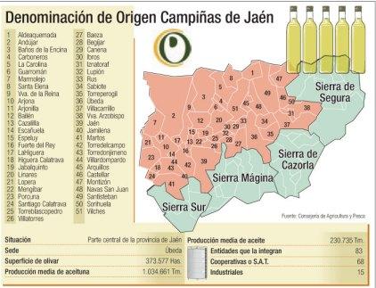 Campiñas de Jaén ya puede calificar aceite como denominación de origen