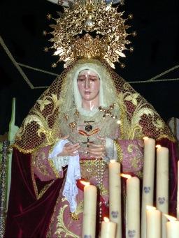La Virgen de los Dolores preside el comienzo de la Semana Santa de Porcuna