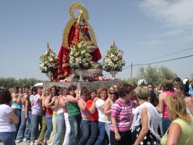 La Virgen de Alharilla sale de nuevo en la Fiesta de las Flores