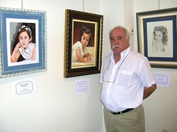 Isidoro de la Rosa expone sus pinturas por segunda vez en Porcuna