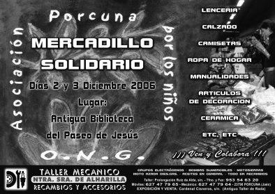 La ONG 'Porcuna por los niños' pone en marcha el Mercadillo Solidario 2006