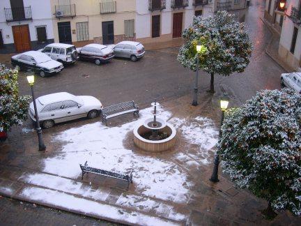 Nieva en Porcuna
