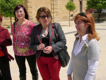 La Delegada provincial de Turismo, Comercio y Deporte supervisa las obras donde hay inversiones de su delegación