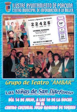 Mañana, el grupo Ámbar representa 'Las niñas de San Ildefonso'
