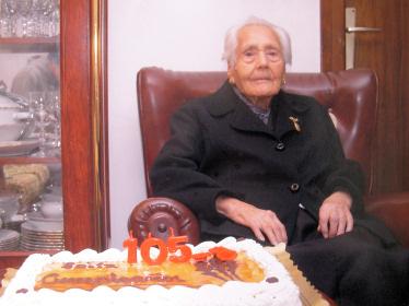 Encarnación Gutiérrez, 105 años de experiencia