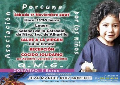 La ONG Asociación Porcuna por los Niños organiza su Cocido Solidario 2007