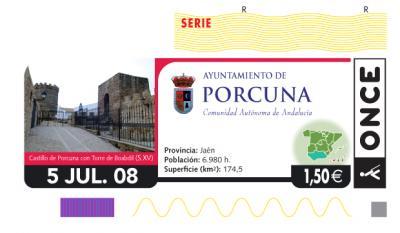 La ONCE dedicará un cupón a Porcuna