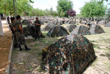 300 soldados acampan en Alharilla siguiendo la huella del General Castaños