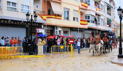 La lluvia suspende el paseo de caballos en las vísperas de la Romería