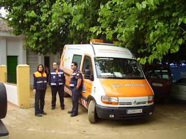 La Agrupación de Protección Civil de Lopera participa en la Romería de Alharilla