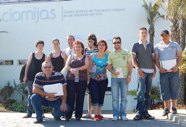 Los alumnos del centro de formación 'Las Palmeras' visitan el Centro Andaluz de Formación Integral de las Industrias del Ocio