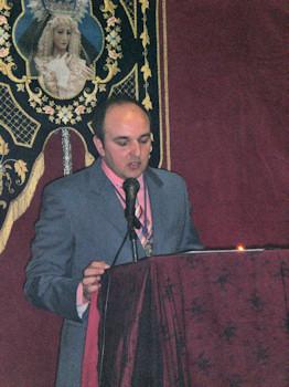 Miguel Ángel de la Rosa pregona el 250 Aniversario de la Devoción a María Santísima de los Dolores en la ciudad de Porcuna