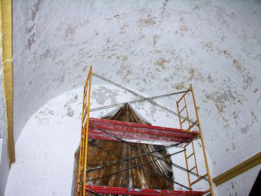 Descubiertas pinturas murales en la iglesia de San Benito
