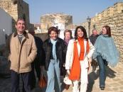 La Delegada de Cultura visita las obras del Teatro-Cine Municipal y monumentos del pueblo